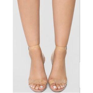 NWB Fashion Nova Vinyl Sandals size 7